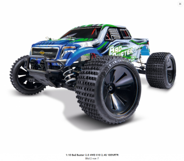 Carson 1:10 Bad Buster 2.0 4WD X10 2,4Ghz 100%RTR Version