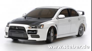 Tamiya 1:10 RC Mits. Lancer Evo.X (TT-02D)Drift EDITION + Tuning + LED