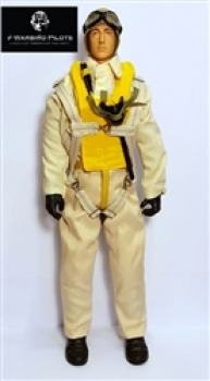 "WWII US Navy Pilot 1/7 - 1/8 10"" MIT MOVING HEAD FUNKTION"