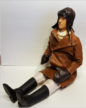 "WWI British / French Pilot 1/3 - 1/3,5 22 "" MIT MOVING HEAD FUNKTION"