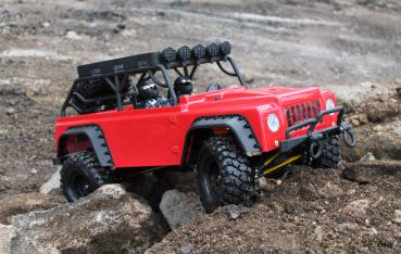 DF-4S Crawler 1:10 -4WD - 100%RTR Brushed RED EDITION