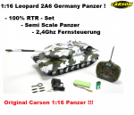 Carson 1:16 Leopard 2A6 27 MHz 100% RTR
